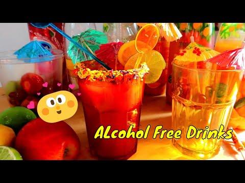 MAKING Alcohol free SUMMER FRUIT cocktails [4K]