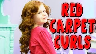 BEAUTIFUL RED CARPET CURLS TUTORIAL