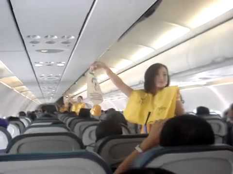 Sexy Air Hostess Dancing For Passengers video