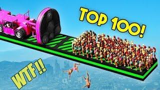 TOP 100 FUNNIEST GTA 5 FAILS EVER! Funny Moments Grand Theft Auto V Compilation