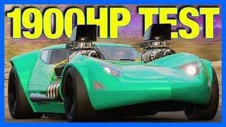 Forza Horizon 4 : 1900 Horsepower Hot Wheels Twin Mill!! (Top Speed, Drag Racing & More)