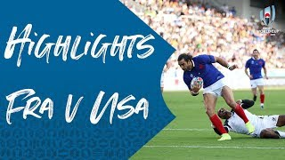 HIGHLIGHTS: France v USA - Rugby World Cup 2019