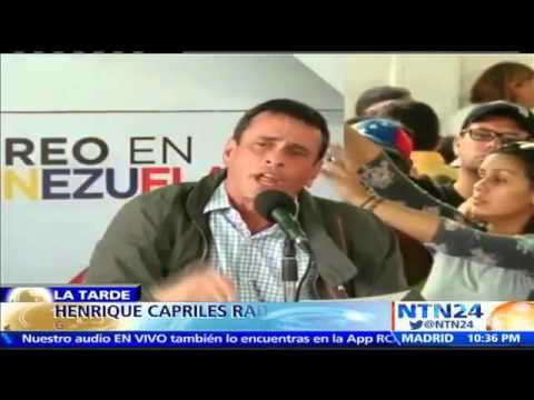 """Capriles pide activar el revocatorio contra Maduro: """"El tiempo constitucional ha llegado"""""""