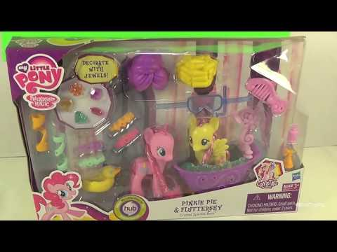 My Little Pony Pinkie Pie & Fluttershy's Bath Time Adventure! by Bin's Toy Bin
