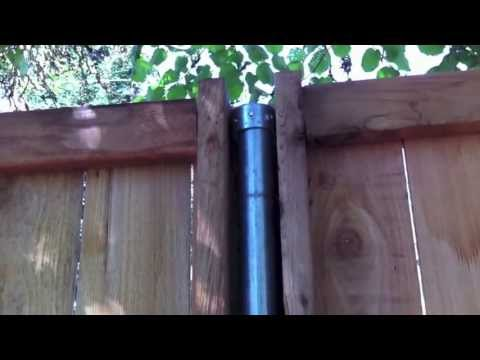 How To Build Wood Fence With Metal Posts Youtube