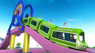Cartoon Train - Toy Train for children - Kids Videos for Kids - Chu Chu Cartoon - Toy Factory Trains