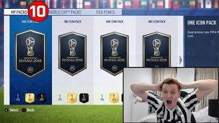 OMFG 10X GUARANTEED ICON PACKS!!! FIFA 18 World Cup Mode!