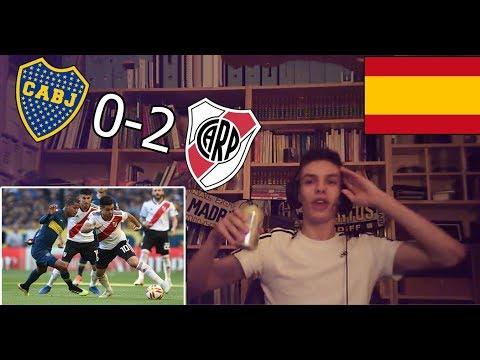 ESPAÑOL REACCIONA AL BOCA VS RIVER 0-2 | SUPERCLÁSICO ARGENTINO 2018/2019