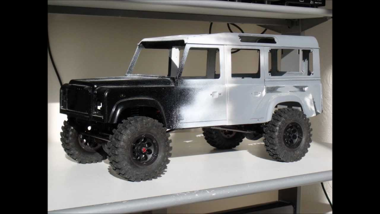 Axial Scx10 Land Rover Defender D110 Build Part 1 Wip