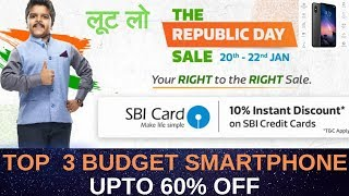 Flipkart Republic Day Sale 2019   Best Budget SmartPhones Under ₹15000, 12000, 7000   Upto 40% Off