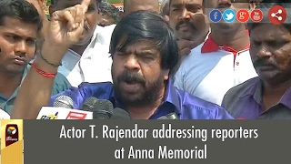 Actor T. Rajendar Press Meet after paying tribute at Anna Memorial