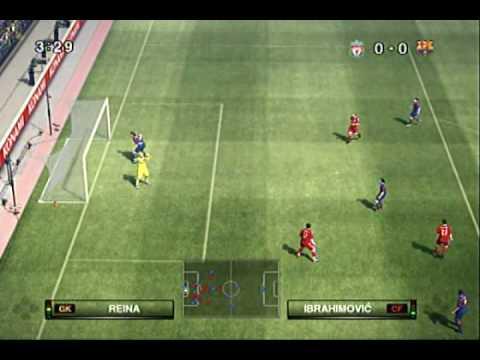 Pro Evolution Soccer 2010 Liverpool Vs Barcelona Xbox 360 Gameplay
