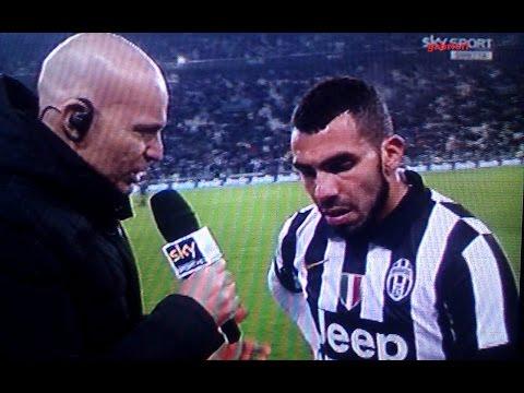 Juventus Milan 3 1 Tevez racconta il gol contro la febbre come ti senti? Male...