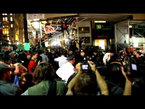 cops beating people up at occupy wall street