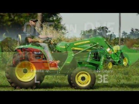 John Deere 3E Series vs. Kubota L Compact Utility Tractors