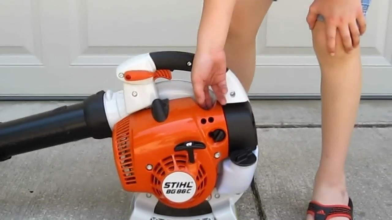 Stihl blowers bg 86 ce starting process youtube - Souffleur stihl bg 86 ...