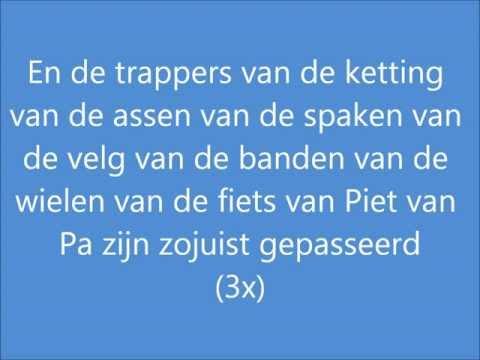 De fiets van Piet van Pa (HD kwaliteit) (Lyrics)