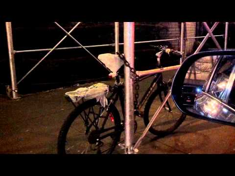 Bike thief caught trying to steal delivery bike.