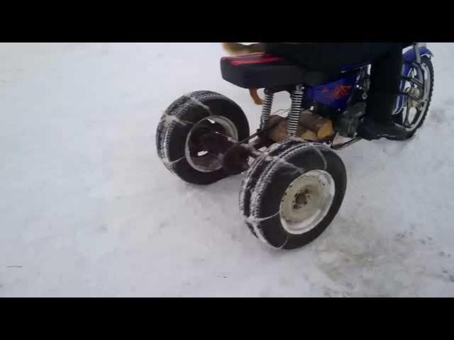 Как сделать квадроцикл из мопеда альфа видео