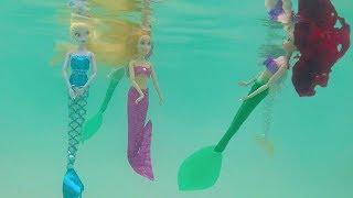 Mermaid Ariel Barbie Swim Underwater Magical Dress Up Rapunzel Belle Frozen Elsa LOL Surprise Doll
