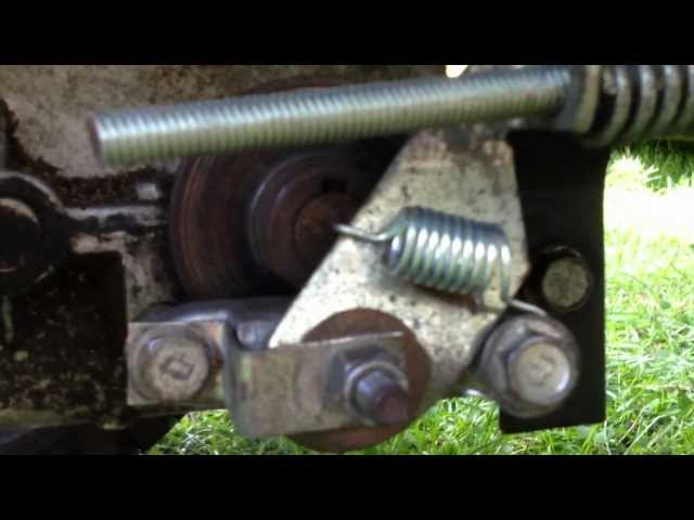 Home Made Tractor Clutch : Craftsman lawn tractor brake assembly and adjustment