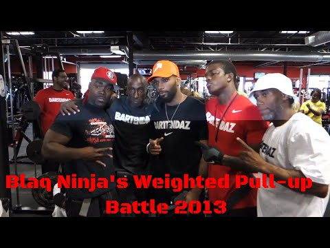 Calisthenics Battle - Blaq Ninja's Weighted Pull-Up Battle 2013