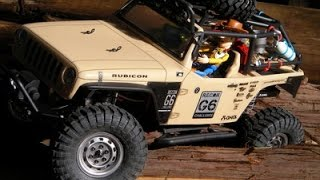 SCX10 Jeep Wrangler G6 AX90034 with Upbeat Music HDR-AS30V