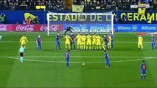 Бильярдный гол от Лео Месси со штрафного на последней минуте матча