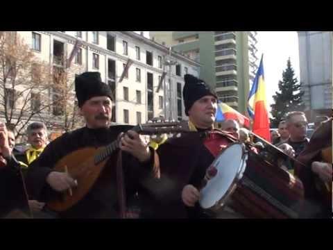 Ansamblul Ștefan Vodă la Marşul Unirii