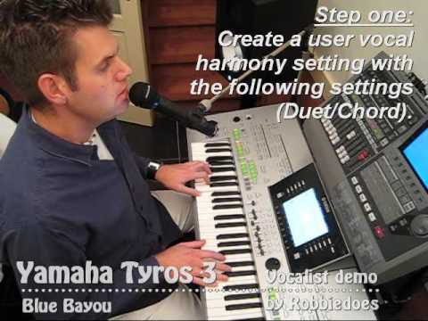 Tyros 3: Linda Ronstadt - Blue Bayou (vocal harmony)