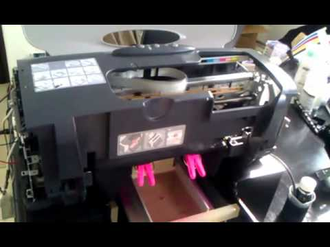 FLAT BED / DTG PRINTER A4 Epson Stylus R230 - Print on Dark Fabric