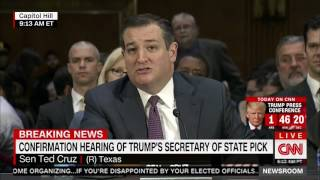 Fellow Texan Sen. Ted Cruz Introduces Rex Tillerson At Confirmation Hearing