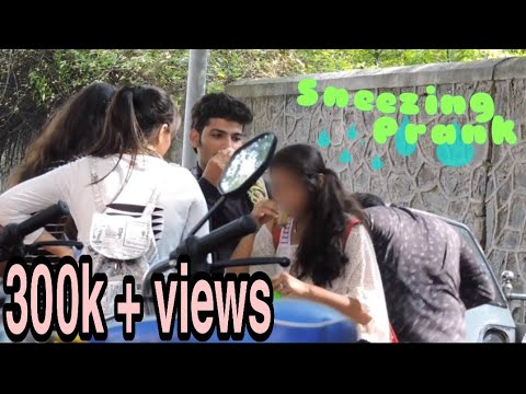 FUNNY SNEEZING PRANK | prank in India | by ASHIF & Team