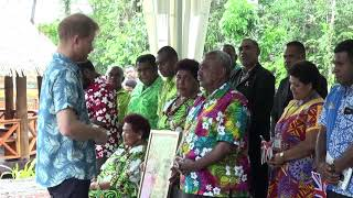 The Duke of Sussex unveils plaque in Colo-i-Suva dedicated to the Queen's Commonwealth Canopy