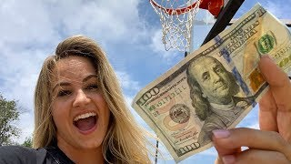 CHALLENGING STRANGERS TO 3PT CONTEST FOR $100!!