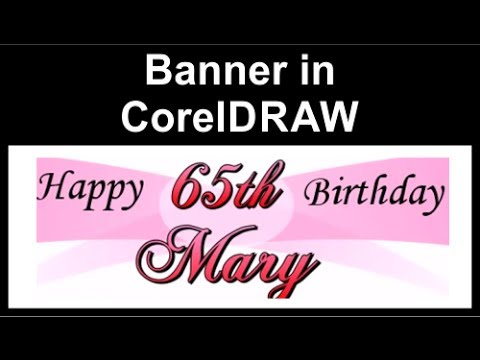 Making banner in CorelDraw
