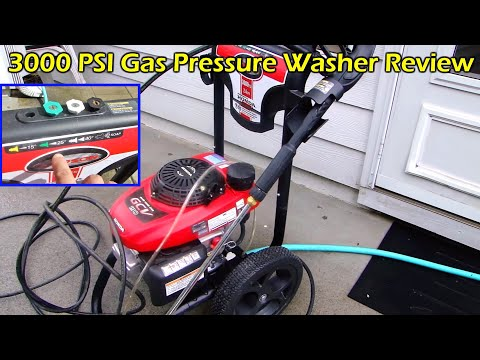 Pressure Washing Back Patio - Simpson 3000 PSI Gas Pressure Washer with Honda Engine