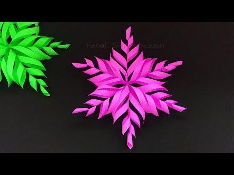 Schneeflocken Basteln Mit Papier Fur Weihnachten Diy Sterne