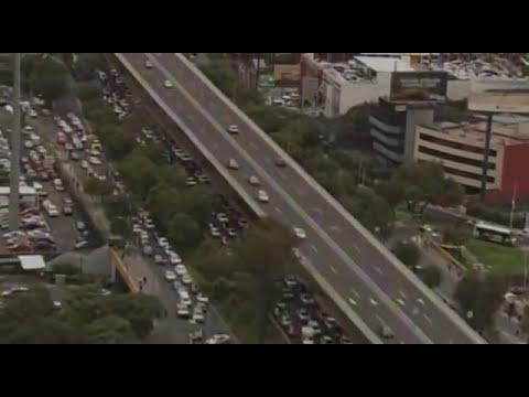 Bloqueos por Hoy no circula vistos desde el aire | Noticias