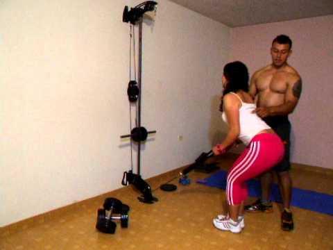 Xs home gym espalda remo cable polea baja youtube - Como hacer un gimnasio ...