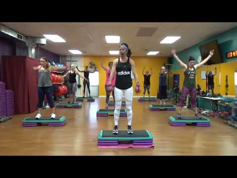 All out Step Aerobics and Leg work/high calorie BURN
