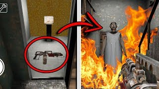 SECRET FLAMETHROWER WEAPON in Granny Horror Game! (New Secret Weapon)