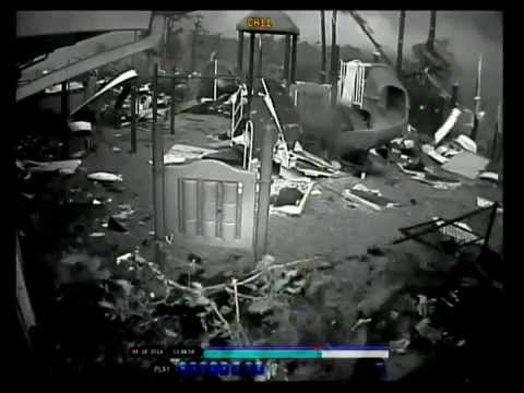 Security Camera Footage of Tupelo, Mississippi Tornado 2014 St. Luke UMC