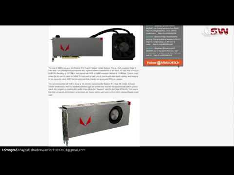 3 Csúcs Radeon Videokártya: VEGA 64, VEGA 56, VEGA NANO