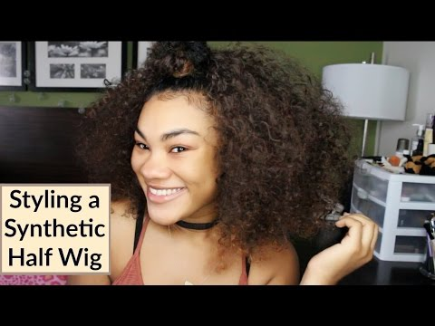 Hair   Styling a Synthetic Half Wig (Part 1)   QueenPrincessKym