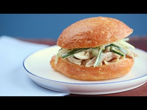 Pulled Chicken with Apple-Cucumber Slaw - Everyday Food with Sarah Carey