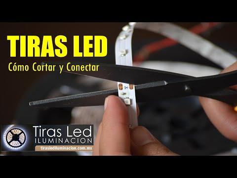 Tira de leds como cortar y conectar youtube for Tiras led para tv
