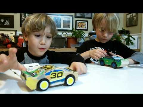 Paint Your Own Race Car!  Melissa and Doug Wooden Craft Toy - SuperTwins TV Review