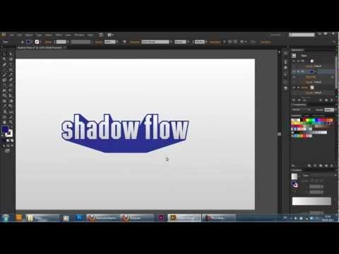 Текстовый эффект в иллюстраторе с помощью бленда