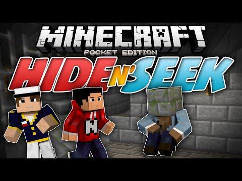 JUMP SCARE Hide N Seek Block Hunt MCPE Minecraft Pocket Edition